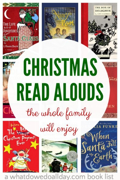 Christmas chapter books to read aloud to the whole family.