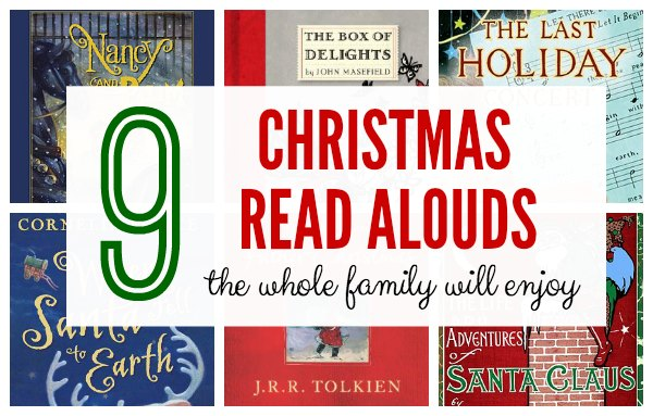 Christmas read aloud chapter books for the whole family to enjoy.