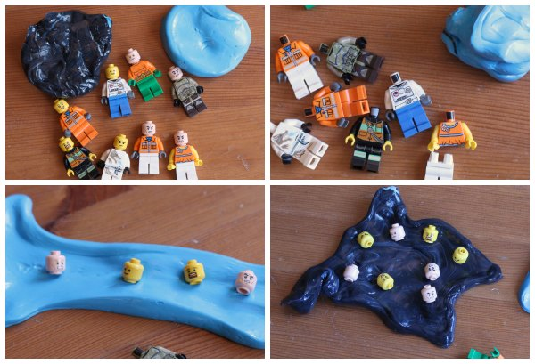 Fine motor activity for kids with LEGO