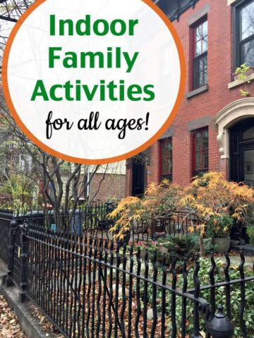 Fun, creative and dramatic indoor family activities for all ages.