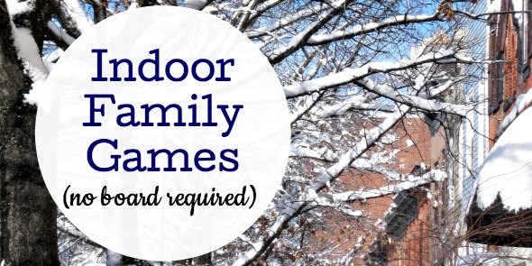 Fun family games to play at home indoors.