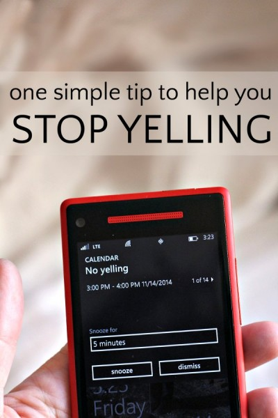 A simple trick to help parents stop yelling at the kids.