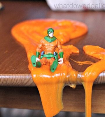 Superhero slime play for kids indoor activity