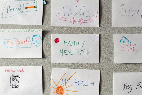 Start a thankful tradition with a family gratitude wall.