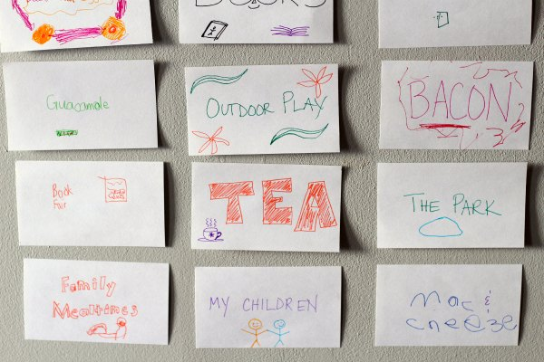 Create a family thankful wall to practice gratitude.