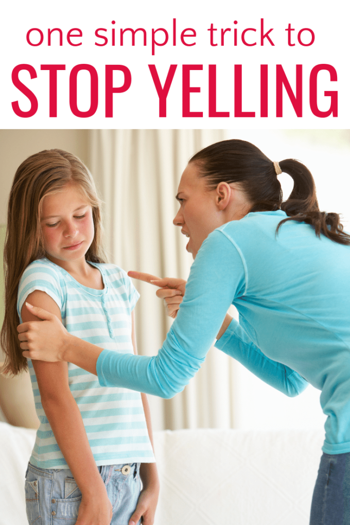 stop yelling at your kid