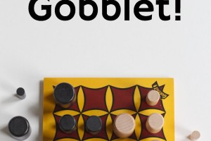 Gobblet game is a strategy 4 in a row game. Tips for playing with kids.