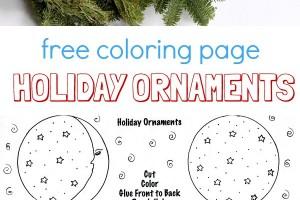 Ornament coloring page. Free printable by Melanie Hope Greenberg.
