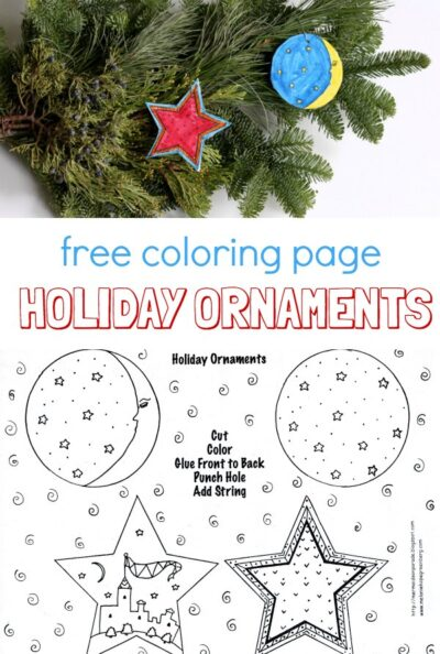 Ornament coloring page. Free printable by Melanie Hope Greenberg.