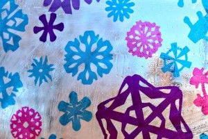 How to make a snowflake stained glass window with cellophane and soap!