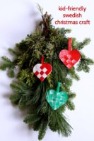 Easy Swedish Christmas ornament craft.