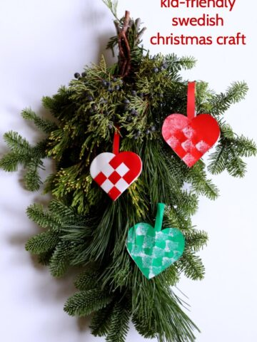 Easy Swedish Christmas ornament craft.