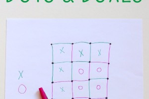 How to play dots and boxes game. A fun indoor boredom buster for kids and families.
