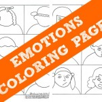 Emotions Coloring Pages – Help Kids With Feelings