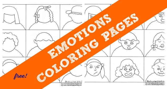Emotions Coloring Pages For Preschoolers | 374x700