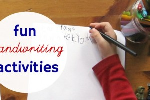 List of fun handwriting activities for reluctant writers.
