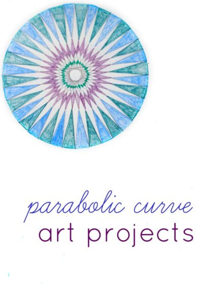 Parabolic curves make fun math art projects for kids.