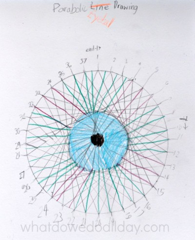 Eyeball art from parabolic curves.