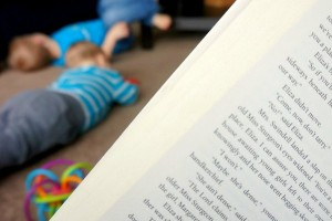 Find time to read book for yourself, even with kids underfoot!