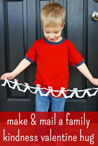Make a giant hug valentine craft!