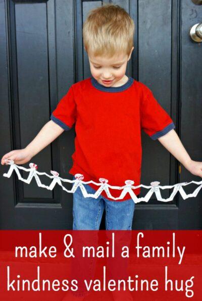 Make a giant hug valentine craft!