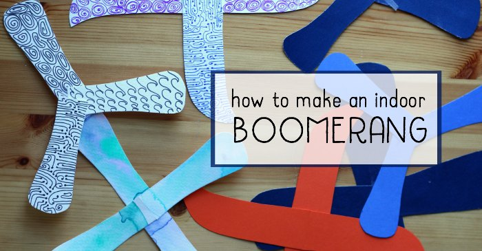 How To Make A Paper Indoor Boomerang