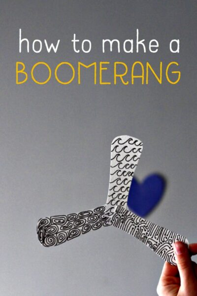 How to make a paper indoor boomerang.