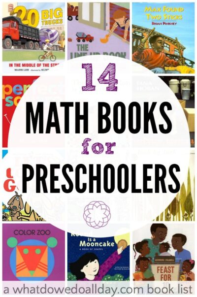 Math books for preschoolers, kids ages 3 to 5.