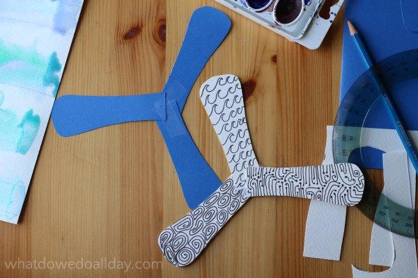 Decorate your indoor boomerangs