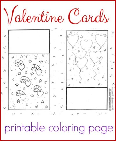 picture regarding Printable Valentines Cards for Kids named Darling Valentine Playing cards Coloring Web site