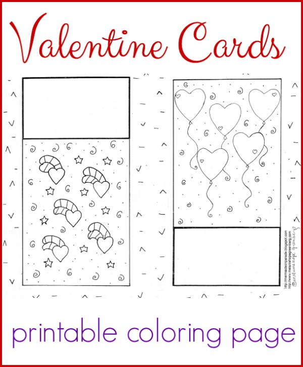 valentines day cards coloring pages - photo#24