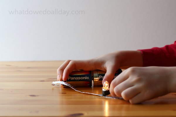 Make light with a simple circuit science project.