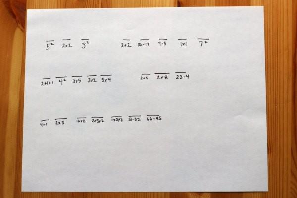 Secret code activity with math component.