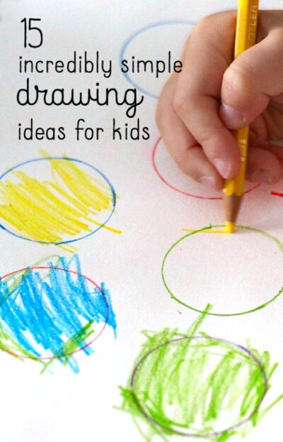 15 Incredibly Easy Drawing Ideas For Kids: simple drawing ideas for kids
