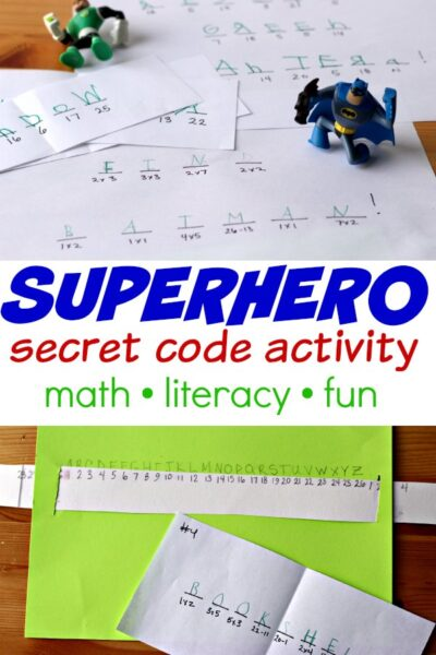 Secret code activity that can be adapted to the interest of your child.