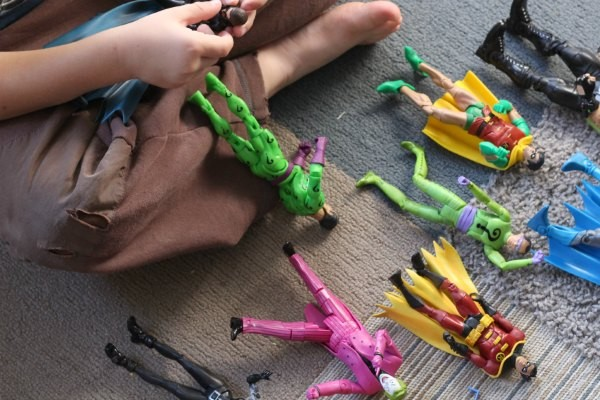 Superhero science activities with action figures