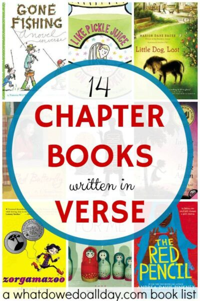 chapter books written in verse free poetry is a great style for kids to read - Free Kid Books