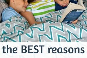 Benefits of reading aloud to older children.