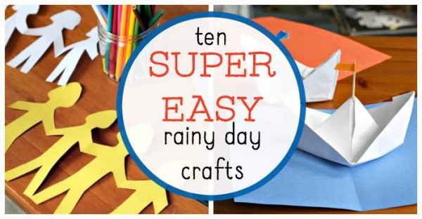 Easy rainy day crafts for kids and families.
