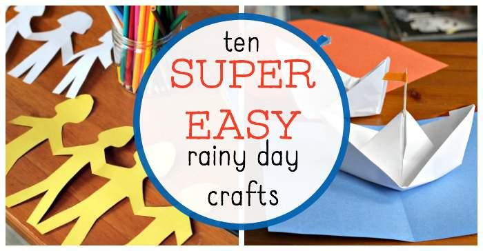Easy Rainy Day Crafts For Kids That Are Entertaining