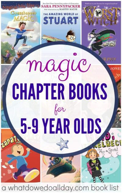 Magic early chapter books perfect for kids ages 5-9 who have just started reading chapter books.