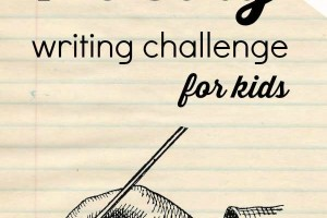 Challenge your kids to learn about poetry by writing it.