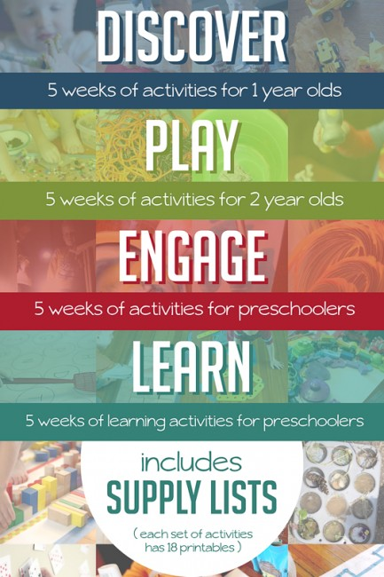 Activity plan ebooks for kids. Babies, toddlers and preschooler play and learning ideas.