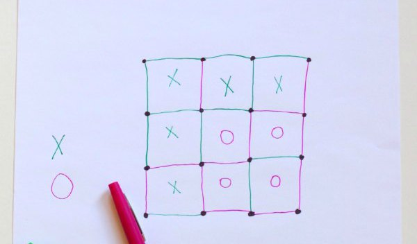 Dots and boxes game for executive function