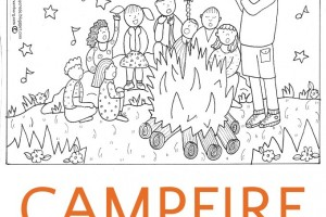 Campfire Coloring Page (And a Surprise Conversation)