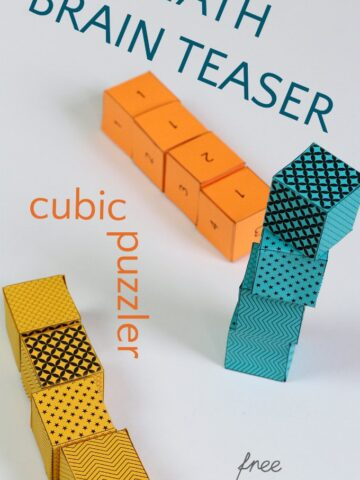 Math cuber riddle puzzler for kids.