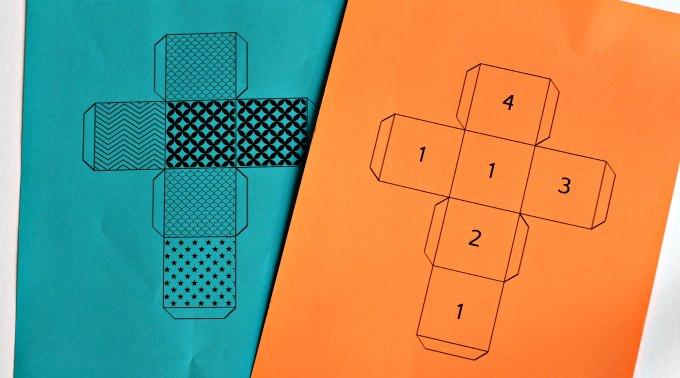 Math cube riddle printables