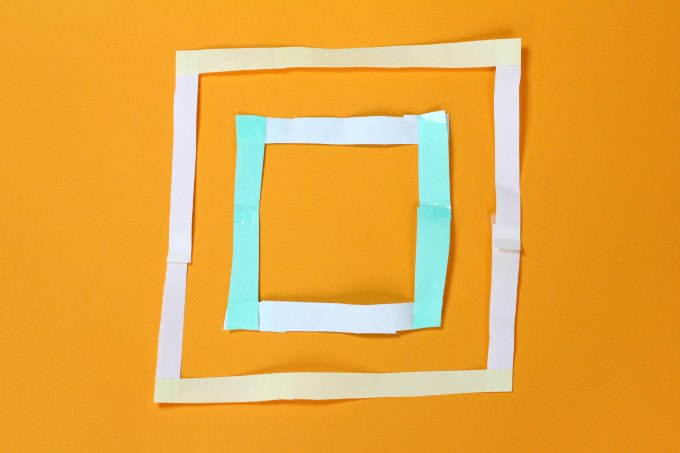 Resulting square in geometry magic trick.