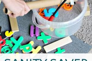 Indoor magnet wand game