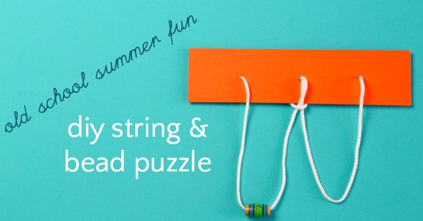 String and bead puzzle diy